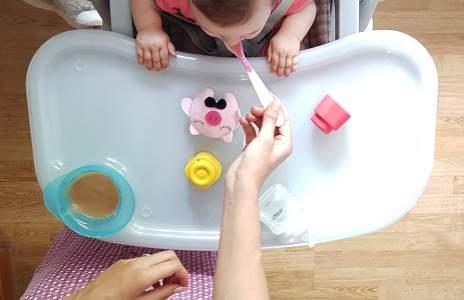 Захранване на бебето с домашни пюрета