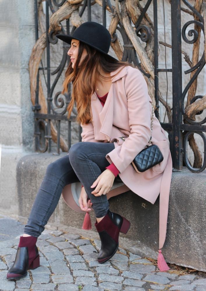 Burgundy + pink