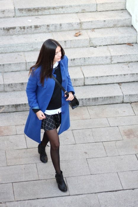 The blue coat is out